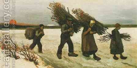 Wood Gatherers In The Snow by Vincent Van Gogh - Reproduction Oil Painting