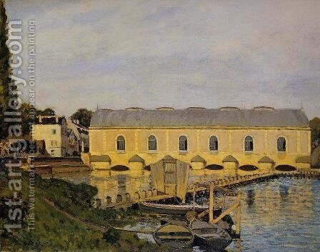 The Machine At Marly by Alfred Sisley - Reproduction Oil Painting