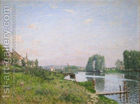 The Island Of Saint Denis by Alfred Sisley - Reproduction Oil Painting