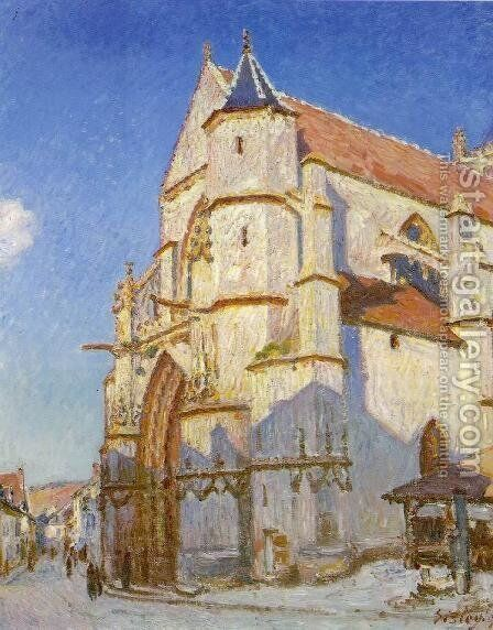 The Church At Moret by Alfred Sisley - Reproduction Oil Painting