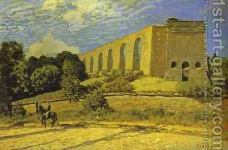 The Aqueduct At Marly by Alfred Sisley - Reproduction Oil Painting