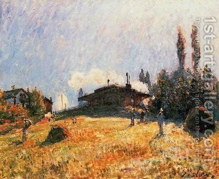 Station At Sevres by Alfred Sisley - Reproduction Oil Painting