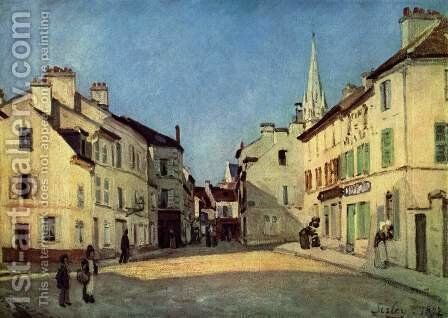 Square In Argenteuil Rue De La Chaussee by Alfred Sisley - Reproduction Oil Painting