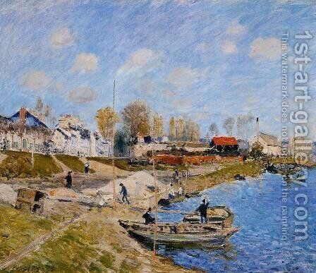 Sand On The Quayside Port Marly by Alfred Sisley - Reproduction Oil Painting