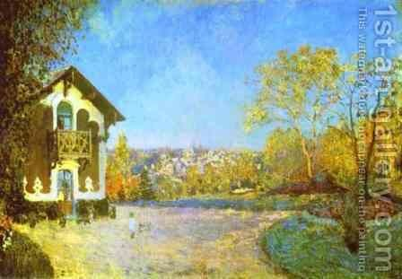 Louveciennes by Alfred Sisley - Reproduction Oil Painting