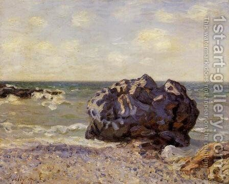 Langland Bay Storrs Rock   Morning by Alfred Sisley - Reproduction Oil Painting