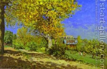 Landscape At Louveciennes by Alfred Sisley - Reproduction Oil Painting