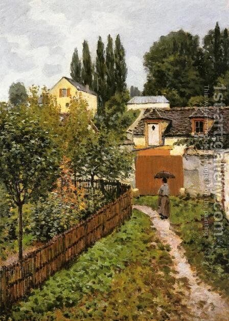 Garden Path In Louveciennes by Alfred Sisley - Reproduction Oil Painting