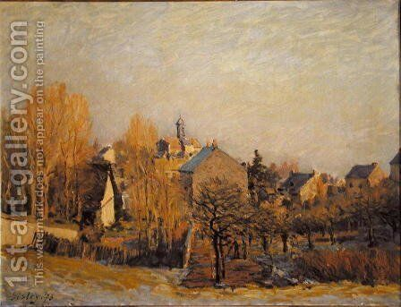Frost In Louveciennes by Alfred Sisley - Reproduction Oil Painting