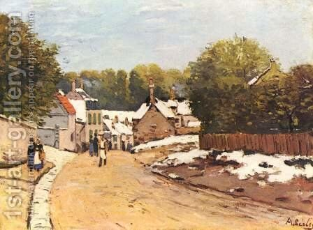Early Snow at Louveciennes 1870-71 by Alfred Sisley - Reproduction Oil Painting
