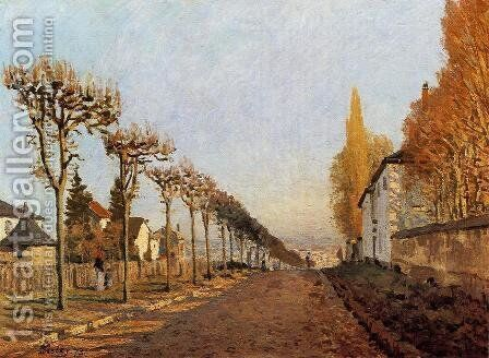 Chemin De La Machine Louveciennes by Alfred Sisley - Reproduction Oil Painting