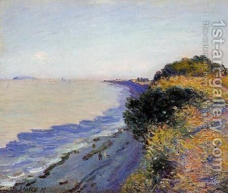 Bristol Channel From Penarth Evening by Alfred Sisley - Reproduction Oil Painting