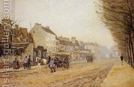 Boulevard Heloise Argenteuil by Alfred Sisley - Reproduction Oil Painting