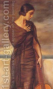 Malaguena by Apperley George Owen Wynne - Reproduction Oil Painting