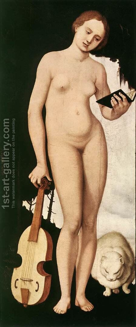 Music  1529 by Hans Baldung  Grien - Reproduction Oil Painting