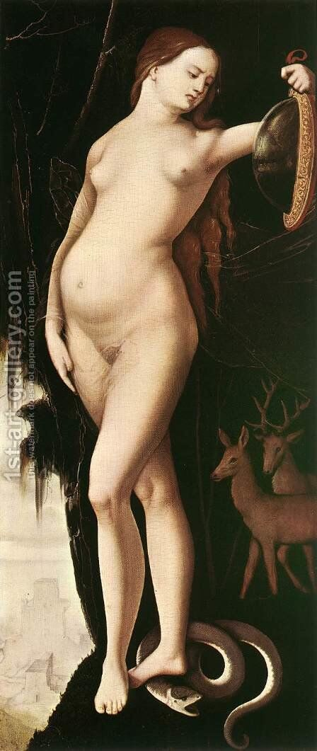 Prudence 1529 by Hans Baldung  Grien - Reproduction Oil Painting