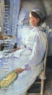New England Woman Mrs Jedediah H Richards CGF by Beaux Cecilia - Reproduction Oil Painting