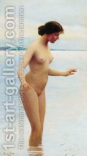 In The Water by Blaas Eugen De - Reproduction Oil Painting