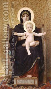 Madone Assise by William-Adolphe Bouguereau - Reproduction Oil Painting