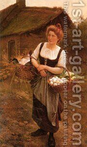 La Fille De Ferme by Boulanger Gustave - Reproduction Oil Painting