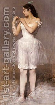 Carriere Belleuse  The Ballerina by Carrier-belleuse Pierre - Reproduction Oil Painting