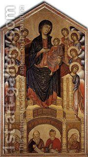 The Madonna In Majesty 1285 6 by Cimabue Giovanni - Reproduction Oil Painting