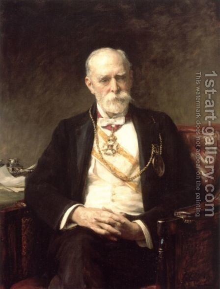 Sir Edward Poynter by Cope Sir Arthur Stockdale - Reproduction Oil Painting