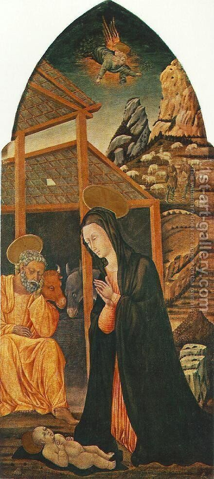 Nativity 1460s by Giovanni di Paolo - Reproduction Oil Painting