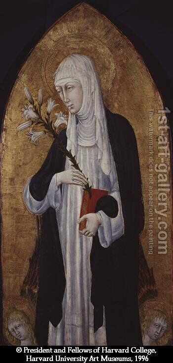 St Catherine of Siena by Giovanni di Paolo - Reproduction Oil Painting