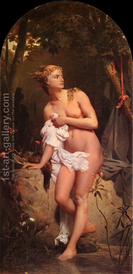 Diana by Gleyre Charles - Reproduction Oil Painting