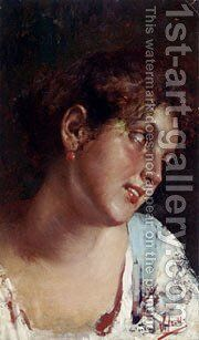 Portrait Of A Young Girl by Irolli Vincenzo - Reproduction Oil Painting