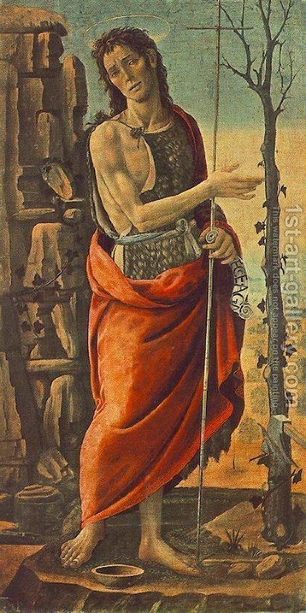 St John The Baptist by Jacopo Del Sellaio - Reproduction Oil Painting