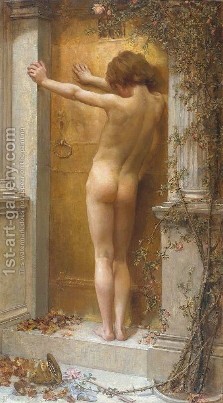 Love Locked Out 1889 by Anna Lea Merritt - Reproduction Oil Painting