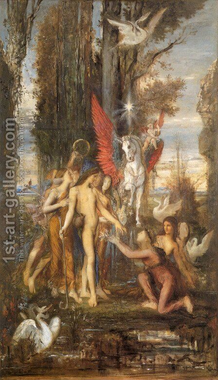Hesiod And The Muses by Gustave Moreau - Reproduction Oil Painting