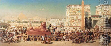 Israel In Egypt by Sir Edward John Poynter - Reproduction Oil Painting