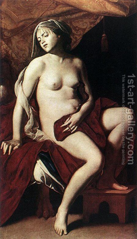 Cleopatra 1630s by Massimo Stanzione - Reproduction Oil Painting