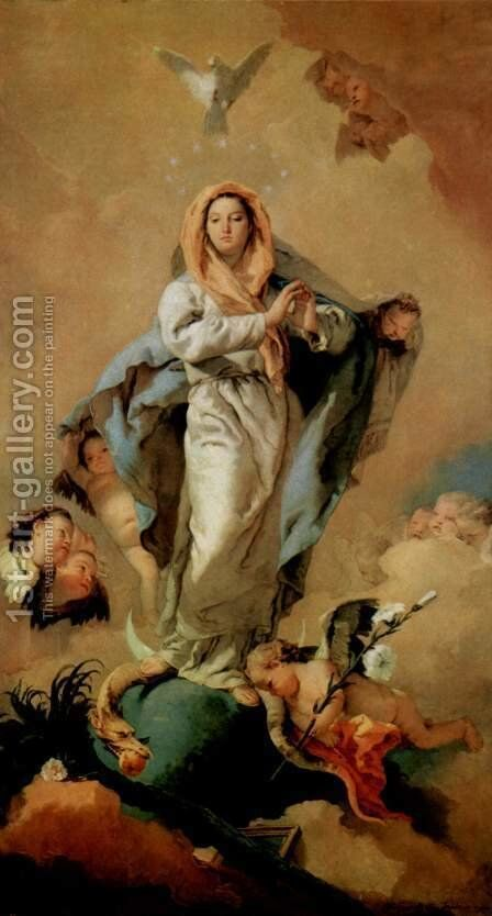 The Immaculate Conception by Giovanni Battista Tiepolo - Reproduction Oil Painting