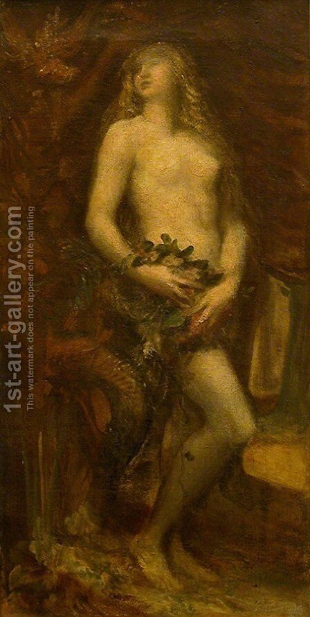Eve Tentee by George Frederick Watts - Reproduction Oil Painting