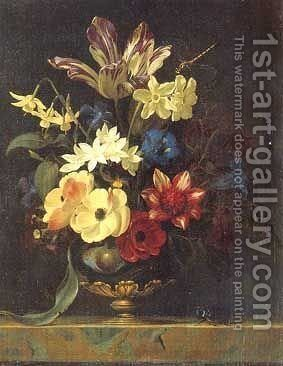 Flower Bouquet by Willem Van Aelst - Reproduction Oil Painting
