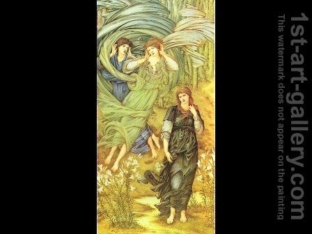 Sponsa de Libano (The Bride of Lebanon) 1891 by Sir Edward Coley Burne-Jones - Reproduction Oil Painting