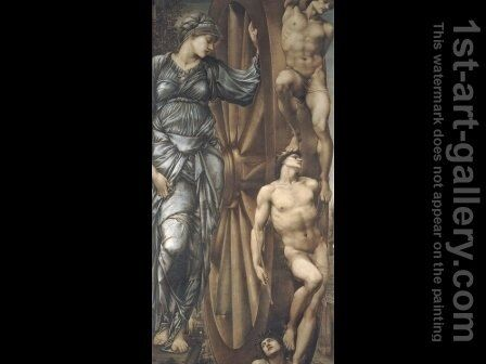 The Wheel of Fortune 1875-83 by Sir Edward Coley Burne-Jones - Reproduction Oil Painting