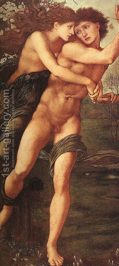 Phyllis and Demophöon 1870 by Sir Edward Coley Burne-Jones - Reproduction Oil Painting