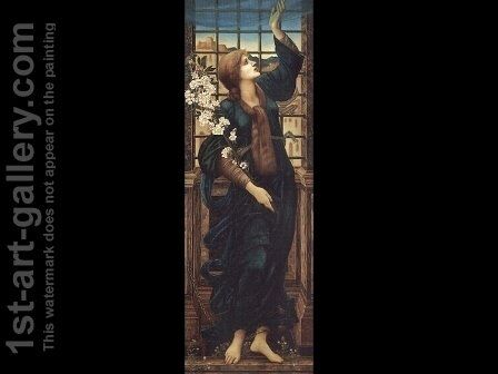 Hope 1896 by Sir Edward Coley Burne-Jones - Reproduction Oil Painting