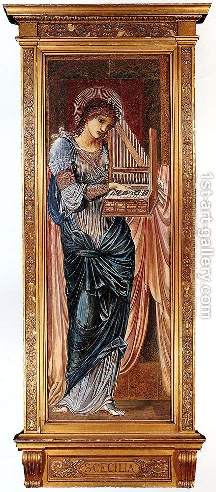 St  Cecilia by Sir Edward Coley Burne-Jones - Reproduction Oil Painting