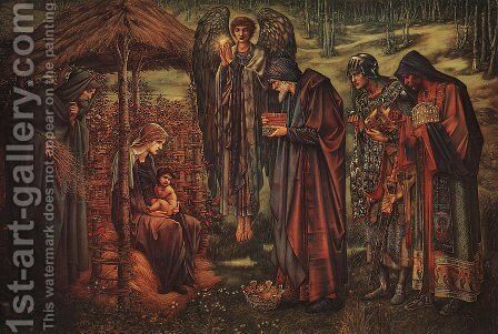 The Star of Bethlehem 1888-91 by Sir Edward Coley Burne-Jones - Reproduction Oil Painting