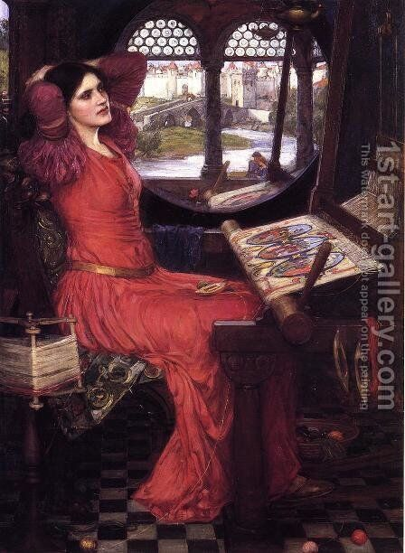 I am Half Sick of Shadows, Said the Lady of Shalott  c.1916 by Waterhouse - Reproduction Oil Painting
