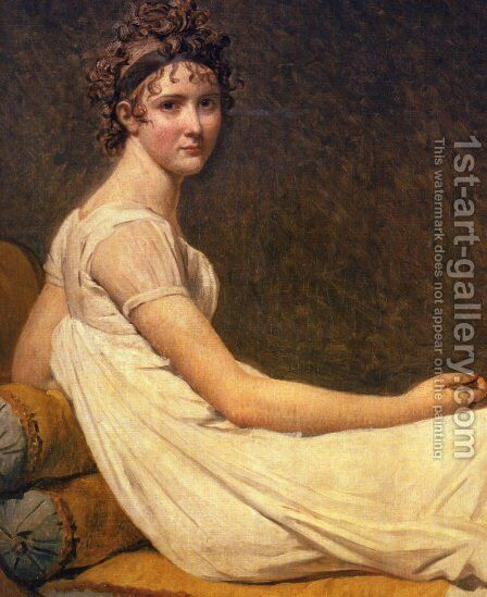 Madame Recamier by Jacques Louis David - Reproduction Oil Painting