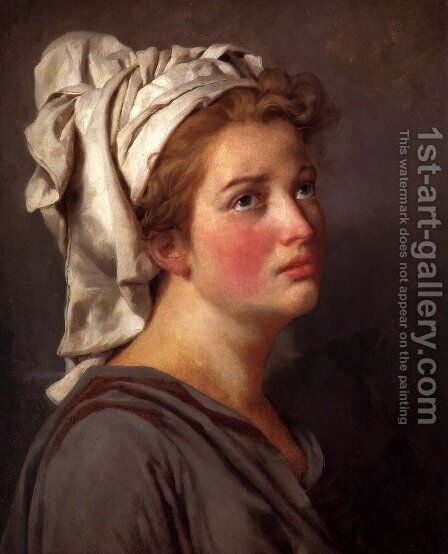 Portrait Of A Young Woman In A Turban by Jacques Louis David - Reproduction Oil Painting