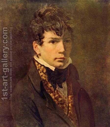 Portrait of Ingres 1800s by Jacques Louis David - Reproduction Oil Painting