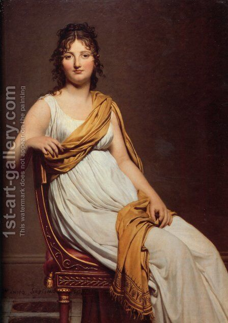 Madame Raymond de Verninac 1798-99 by Jacques Louis David - Reproduction Oil Painting